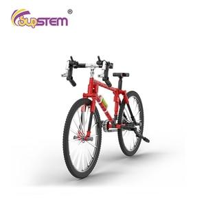 1:24 Bicycle Building Blocks Road Bike Bricks Model Kit Educational Assembling Toys City Bicycles Hobby For Kids Birthday Gifts