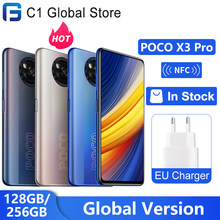 Глобальная версия POCO X3 Pro 128 ГБ/256 ГБ Snapdragon 860 смартфон 5160 мАч 33 Вт NFC 48MP Quad сзади Камера 120 Гц DotDisplay