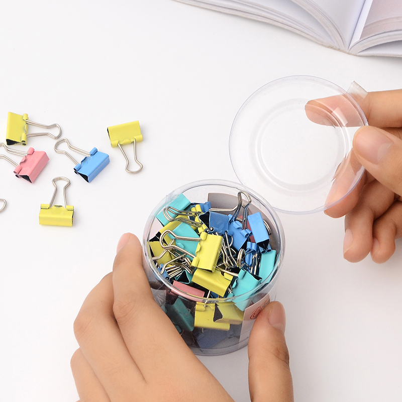 60 Pcs/lot Metal Paper Clips 15mm Colorful Candy Color Clip  Stationery School Office Supplies High Quality   Metal Clips