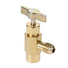 Yetaha 1/4 스레드 어댑터 R134A 셀프 씰링 냉매 병 오프너 밸브 도구 자동차 에어컨 도구