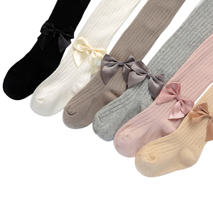Kids Girls Cute Bowknot Pantyhose Kids Baby Girls Fashion Tights Stockings for Party Daily Wear