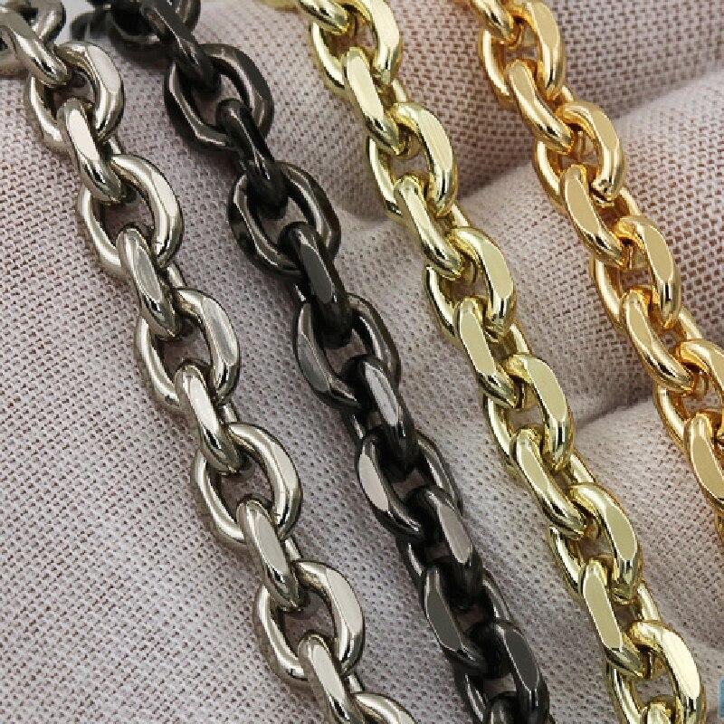Sac à bandoulière léger 100-120cm, 7mm, chaîne de rechange en métal or argent, accessoires
