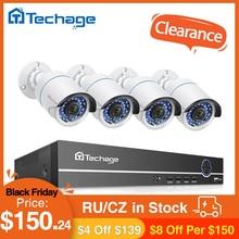 Techage Kit de cámaras de NVR POE, 8CH, 1080P, sistema de cámaras de seguridad de 2.0MP, IR, cámara IP de grabación de Audio para exteriores, conjunto de vigilancia de vídeo CCTV