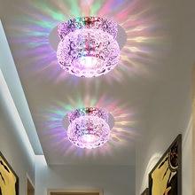 Потолочный светильник с кристаллами 5 Вт современный простой