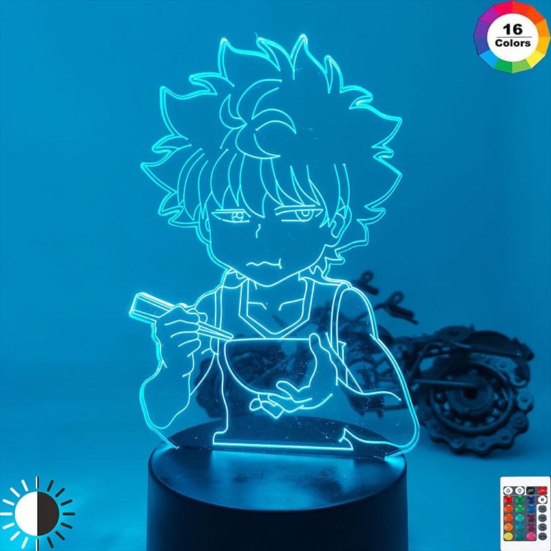 Led Light for Kids Bedroom Decor Hxh Led Night Light Anime Gift Acrylic Neon 3d Lamp Xmas Birthday Killua Cute DIY New Year Gift