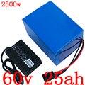 60V 25AH литиевый аккумулятор для скутера 60V 25AH Аккумулятор для электрического велосипеда 60V 1500W 2000W 2500W ebike moror с 50A BMS + 5A зарядным устройством