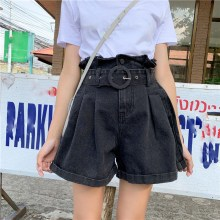 2019 Summer Women Wide Leg Shorts Ladies Loose Denim Shorts Female High Waist Jeans Shorts