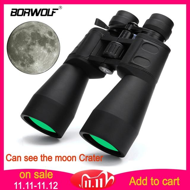 Borwolf 10 380x100 binóculo de caça, alta ampliação, longo alcance, zoom 10 60 vezes, telescópico, binóculos hd, professional