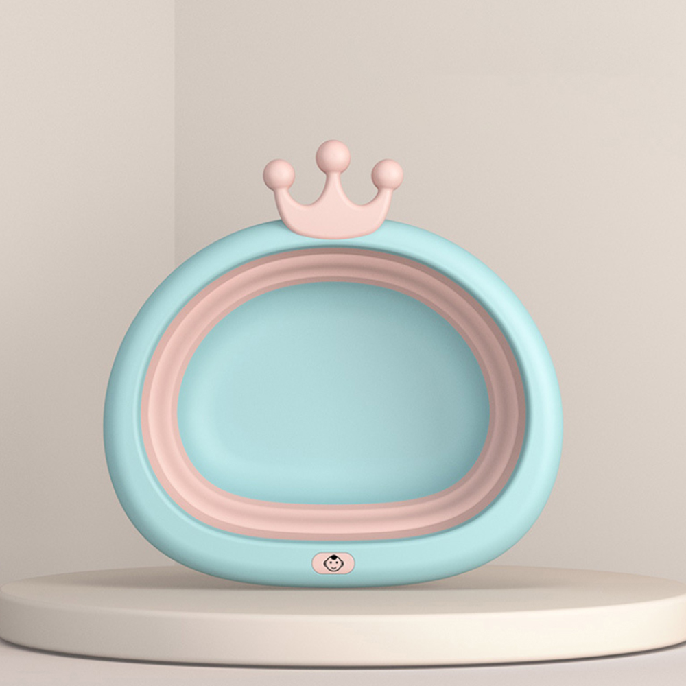 Eco Friendly Baby Bath Tub Made With PP And TPE Material For Safe Bath Of Children