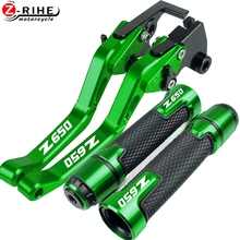 Motorcycle Accessories Adjustable Brake Clutch Levers And Handle Grips For KAWASAKI Z650 Z 650 16 20 2016 2017 2018 2019 2020 17