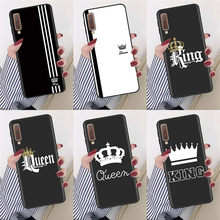 King Queen Soft TPU Cases For Samsung Galaxy A50 A51 A70 A71 A30 A40 A10 A10e A60 A9 A7 2018 S9 S10 S10e S20 Plus Ultra Case(China)