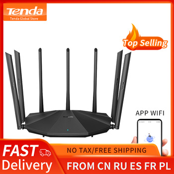 Tenda AC23 AC2100 Router Gigabit 2.4G 5.0GHz Dual-Band 2033Mbps Wireless Router Wifi Repeater with 7 High Gain Antennas Wider 1