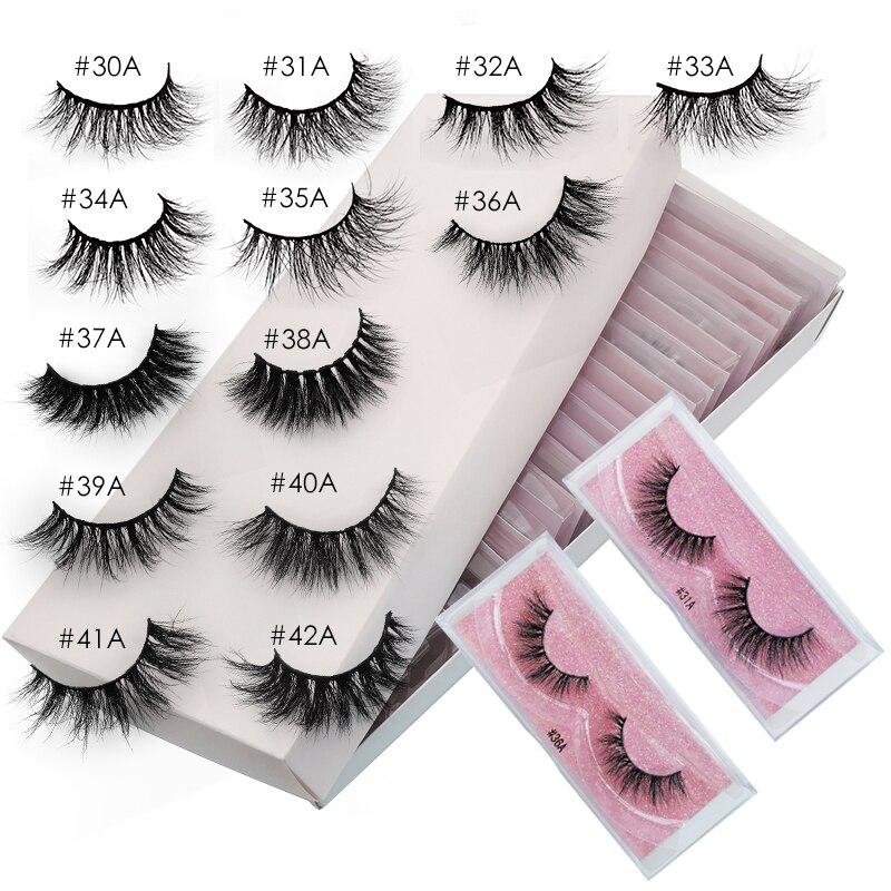 False Eyelashes 20/30/40/50pcs Lashes Wholesale Mink Eyelashes In Bulk Mink Lashes Natural Fluffy eyelashes for Makeup Eyelashes