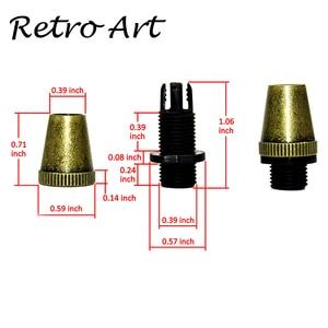 Image 2 - Abrazadera de Cable de lámpara, Cable de metal, alivio de tensión, agarre de Cable roscado