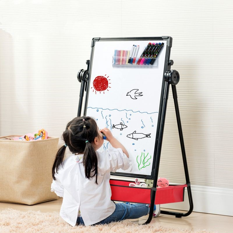 Creative Braced GIRL'S Black/White Board Two-sided Toy CHILDREN'S Drawing Board Small Blackboard Magnetic White-board Double-Sid