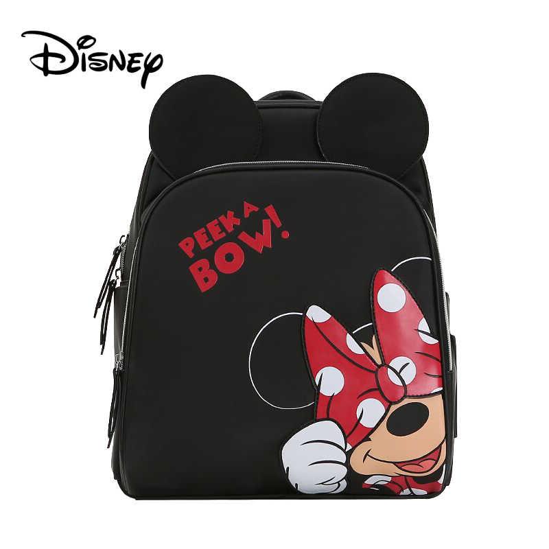 Disney Пеленки сумки рюкзак Детская изоляция коляска с водоотталкивающим покрытием подгузник мешок Мама Мумия Микки Минни влажная сумка подгузник мальчик Органайзер