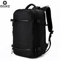 OZUKO Rucksack Männer travel pack Schuhe Tasche Männlichen Gepäck Multifunktionale Rucksack USB Große Wasserdichte 17,3 laptop Frauen Tasche Neue