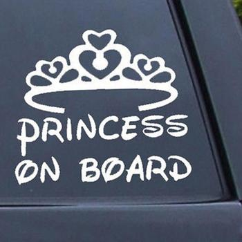 50% HOT SALES!!!New Arrival Lovely Princess on Board Baby Child Window Bumper Crown Car Sign Decal Sticker image