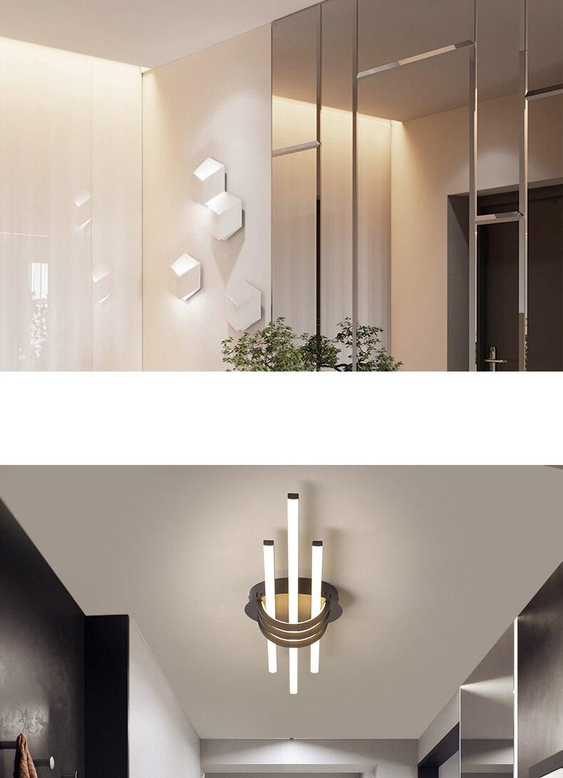 Hdc66050d16d9472898b6c4bb35a01c57s Hallway Pendant Light | LED Ceiling Lights | New Modern Led Ceiling lights for bedroom corridor foyer living room Matte Black White 90-260V Modern Led Ceiling lamp Fixtures