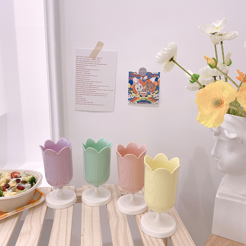 Adorável flor caneta holderfor estudante decorativo desktop