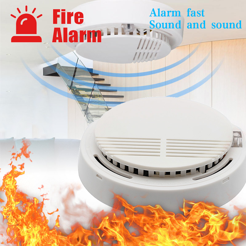 Smoke Detector Fire Alarm Detector Home Security Smoke Alarm Fire Protection For Home Office Security Equipment Smoke Alarm