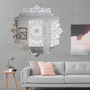 Spiegel Stickers Sticker Badkamer Decor 3D Lange Full Body Muur Zelfklevend Papier Muurschildering Op Het Behang Voor Mandala Bloeien R153