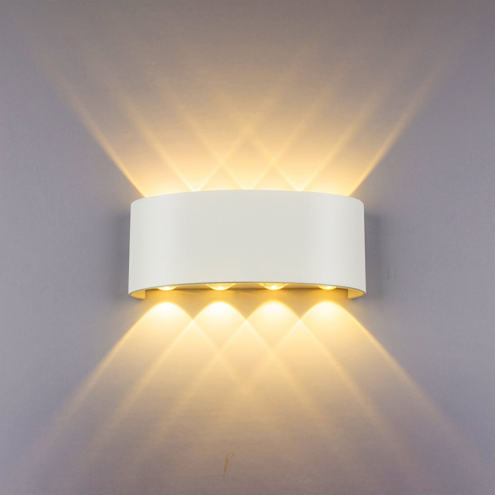 8w White Led Sconce Up Down Wall Lamp