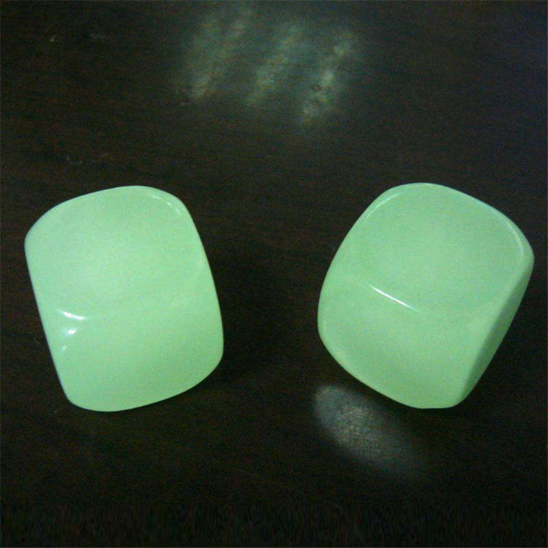 2Pieces 25mm D6 Luminous Blank Dice With Round Corner For Board Games Dices image