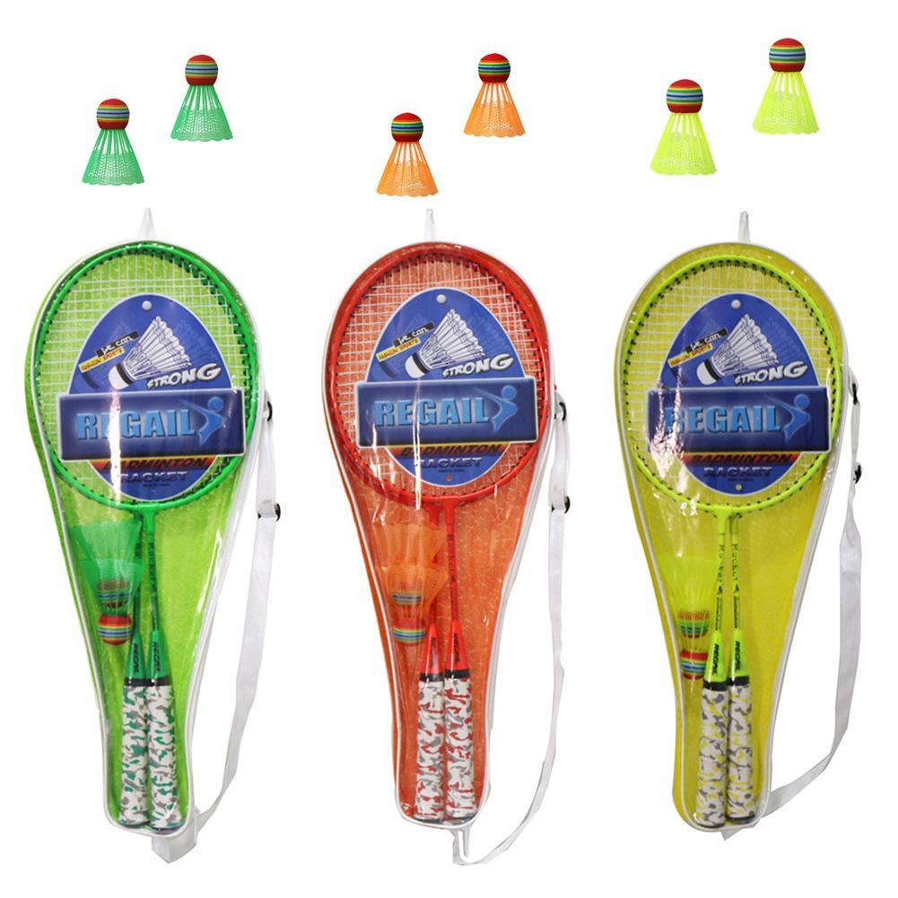 2pcs Professional Badminton Rackets Set Family Double Badminton Racquet Nylon Iron Alloy Lightest Playing Badminton