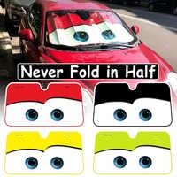 5 couleurs mignon dessin animé yeux voiture pare-brise pare-soleil Auto fenêtre pare-brise couverture pare-soleil bâches de voiture voiture Protection solaire