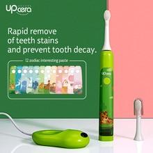 Upcera crianças escova de dentes elétrica de Sonic Onda Atualizado Recarregável USB Recarregável escova de Dentes para Crianças
