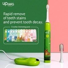 Upcera elektrische zahnbürste kinder Sonic Welle Wiederaufladbare USB Aufladbare Verbesserte Zahn pinsel für Kinder