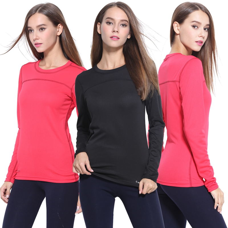 S - 3XL Spring Autumn Plus Size Breathable Quick Dry Long Sleeve Women Sport T Shirt For Yoga Running Fitness