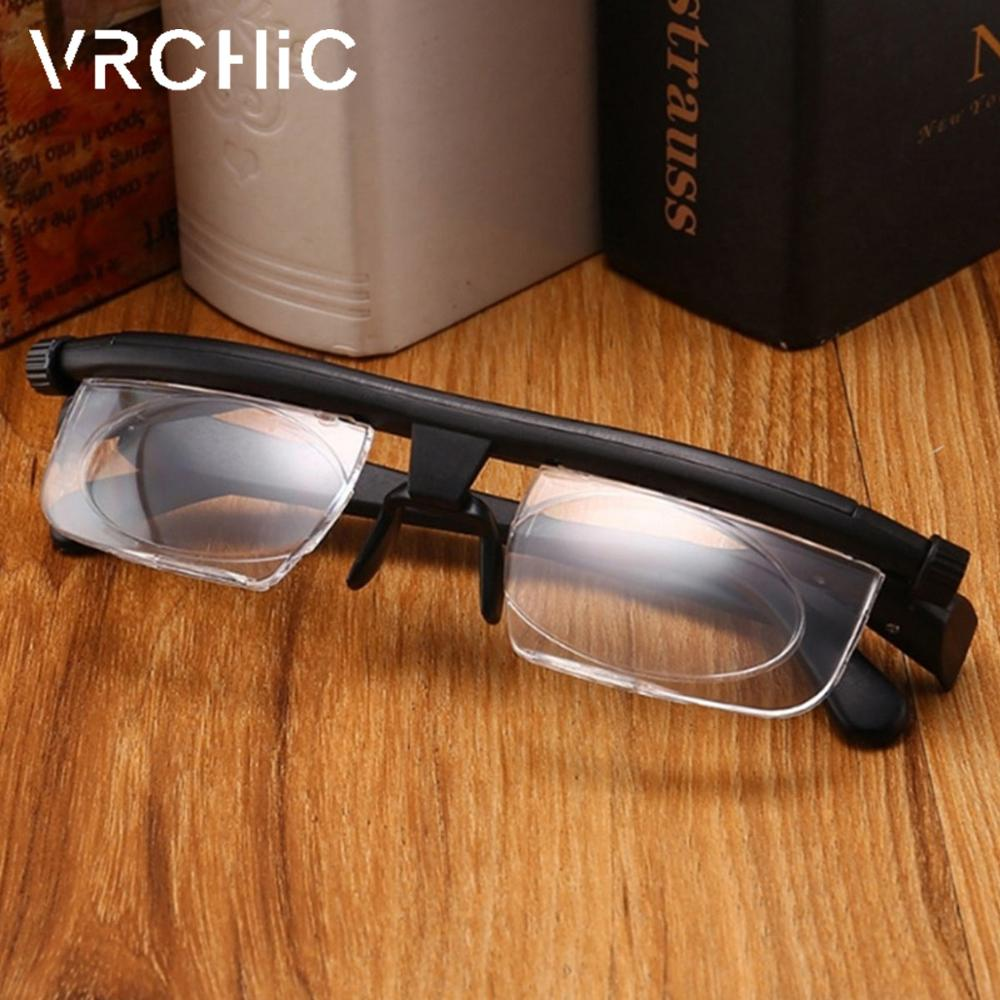 New Adjustable Lens Focus Reading Myopia Glasses Men Women Variable Vision Strength Glasses Correction Lmpact Resistant Lenses