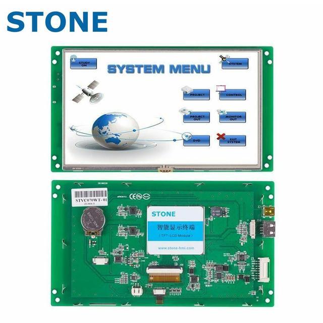 7 אינץ צג LCD הסידורי מודול עם תכנית + מגע מסך עבור ציוד בקרת פנל STVC070WT 01