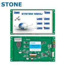 Módulo de exibição lcd de série de 7 polegadas com programa + tela sensível ao toque para o painel de controle do equipamento STVC070WT-01