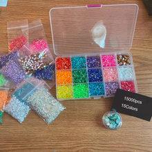 Mélange de strass Non correcteurs, 1 boîte (3mm + 4mm + 5mm) de résine, couleur AB, Nail art, pierres à paillettes, gemmes à dos plat, 18