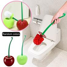 Innovative Cherry Shaped Toilet Cleaning Brush Set Bathroom Toilet Accessories Brush Head Random Color Delivery Toilet Brush unique toilet style land line telephone random color