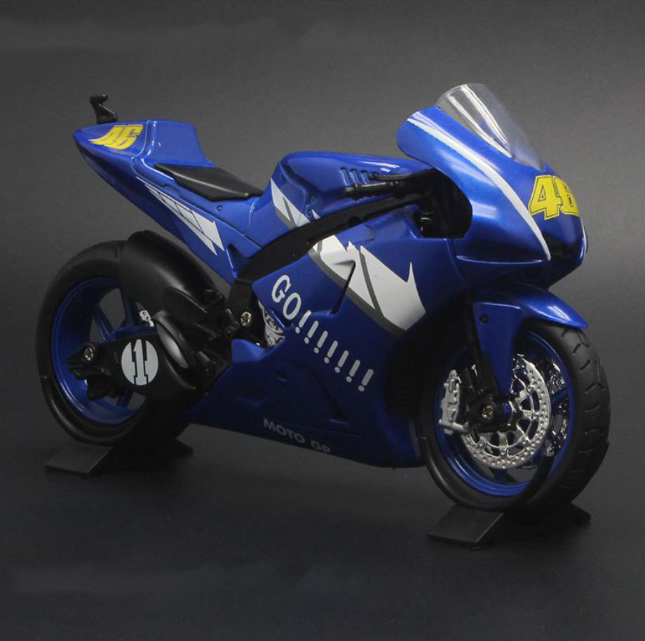 Hot 1:12 scale japan yamaha M1 metal <font><b>model</b></font> with light and sound diecast pull back <font><b>motorcycle</b></font> vehicle alloy toys collection image