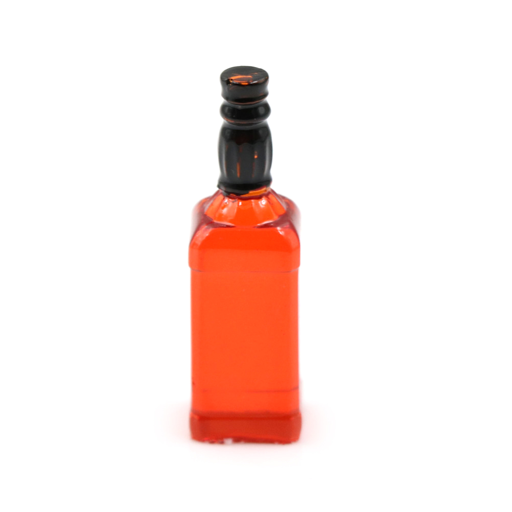 1/12 Dollhouse Miniature Accessories Mini Resin Red Wine Bottle Simulation Drinks Model Toys for Doll House Decor Furniture Toys