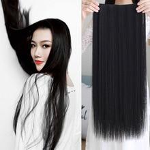 Длинные Синтетические волосы, для увеличения объема, термостойкий парик, заколки, заколки для волос, трессы, заколки, натуральные волнистые волосы кусок волос аксессуары для волос 5 заколки для волос для женщин