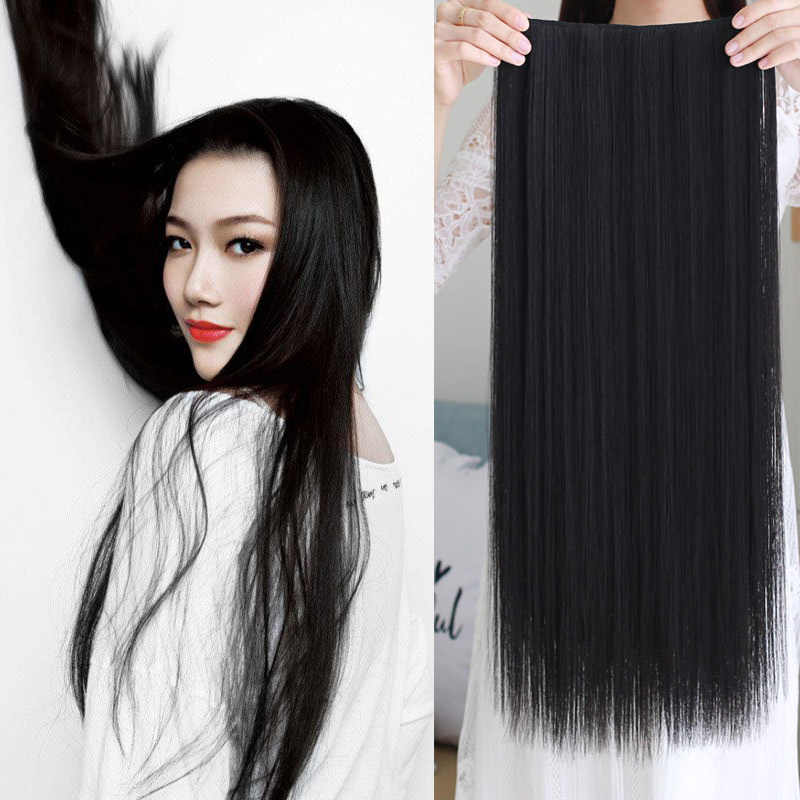 Long Synthetic  Hair Extension Heat Resistant Hairpiece Natural Wavy Hair Piece hair accessories 5 hair clips for women