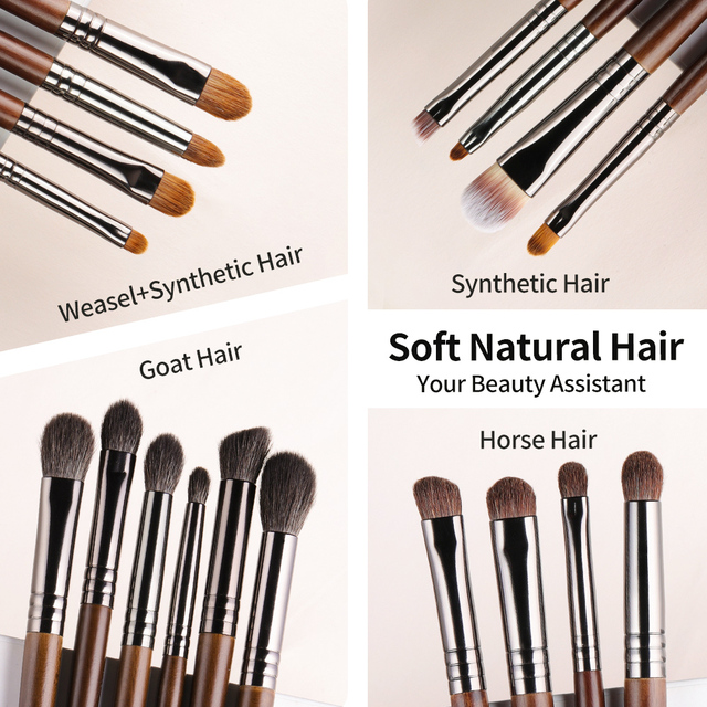 OVW Natural Makeup Brushes Set Eyeshadow Make Up Brush Goat Hair Kit for Makeup nabor kistey Blending  pinceaux maquillage 5