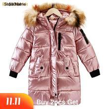 30 dziecięca kurtka zimowa odzież dziewczyna ciepły wodoodporny płaszcz z kapturem długa płaszcze bawełniane dla odzież dziecięca odzież wierzchnia parka