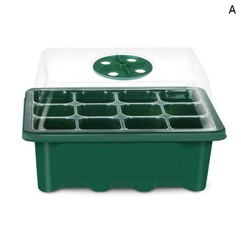 Pet 12 Hole Plant Seed Grows Box Vegetables Nursery Pots Seedling Starter Garden Yard Tray Water Planting For Home Garden#1 image