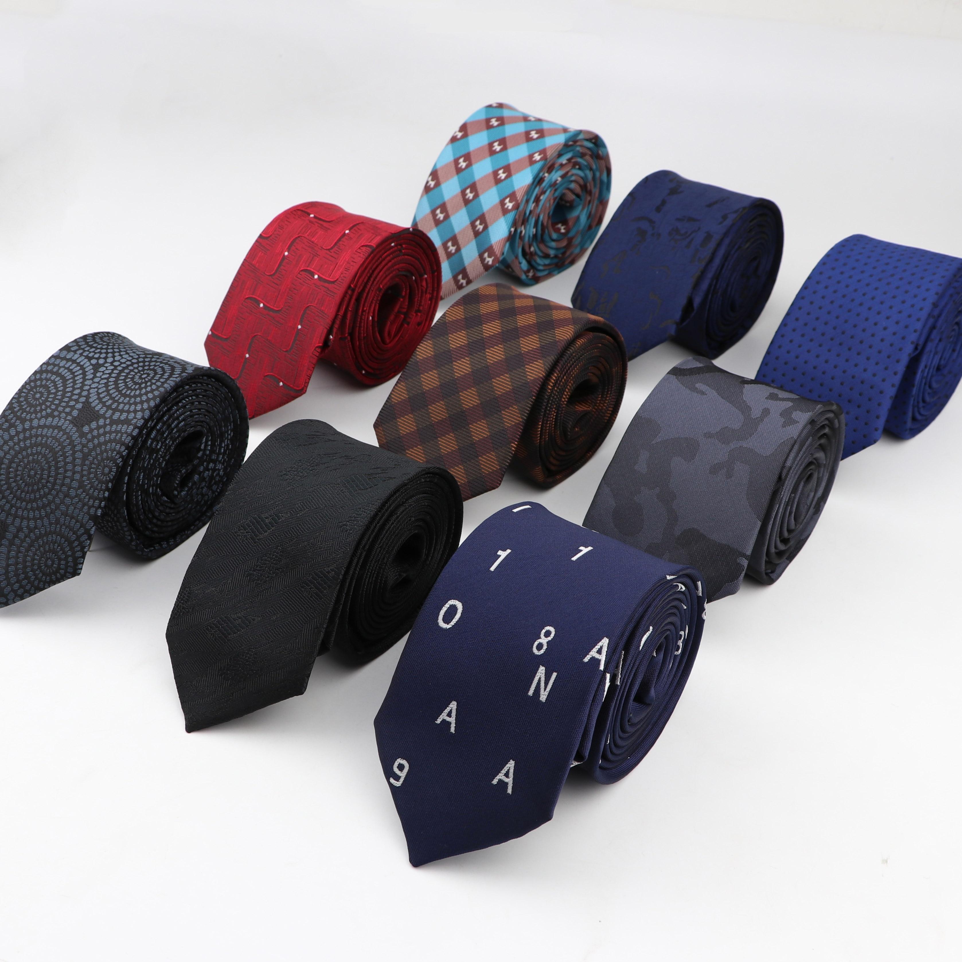 Mens Business Tie 6-7cm Width Dog Letter Designer Jacquard Wedding Necktie Narrow Classic Ties 1200 Needles Polyester Neckwear