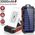 30000mAh Solar Power Bank mit Camping Licht Qi Drahtlose Ladegerät Für iPhone Samsung Xiaomi Power Tragbare Ladegerät Poverbank