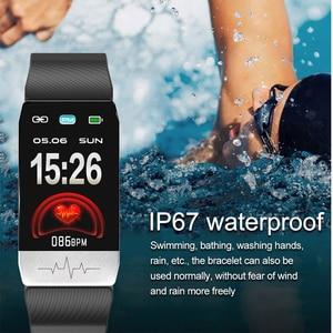 Image 4 - T1 ECG الصحة ساعة ذكية لعرض معدل الضغط ميزان الحرارة قياس درجة الحرارة تشغيل المسار المسار تحكم بالموسيقى الرياضة Smartwatch الرجال النساء