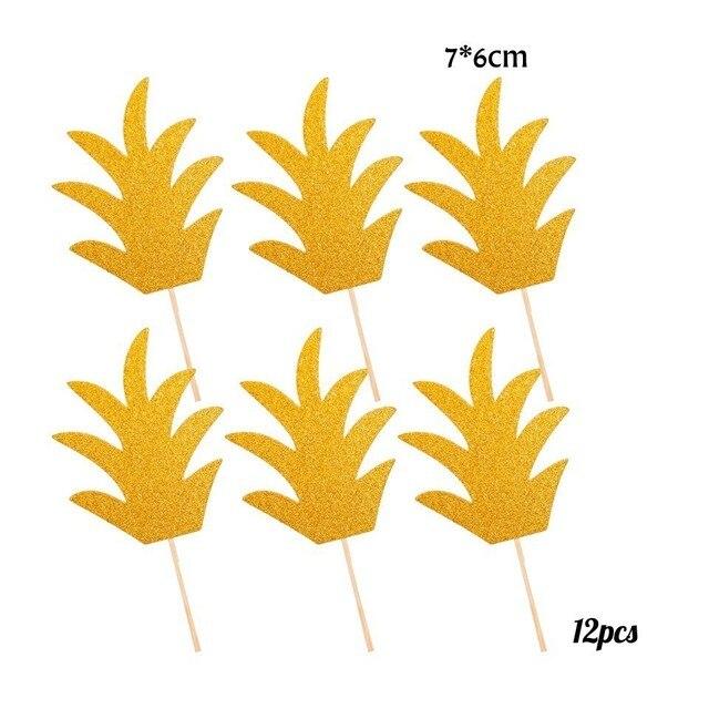 12pcs Gold grass