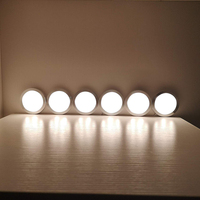 6 in 1 Dimmable LED Lamp Under Cabinet Lighting Showcase Kitchen Lights Dimmer Adapter 300LM US/UK/EU/AU Plug